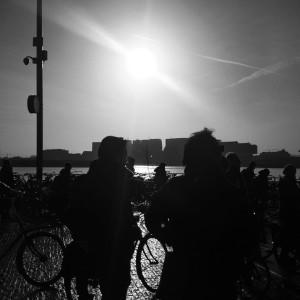 wachten bij de pont